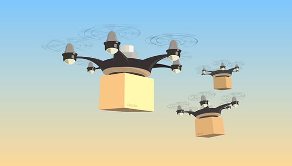 Drone delivery shipping 600